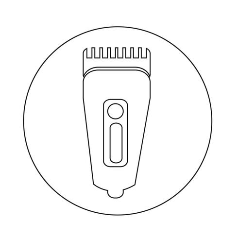 Shaver symbol hairclipper icon