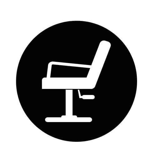 Icona di sedia da barbiere
