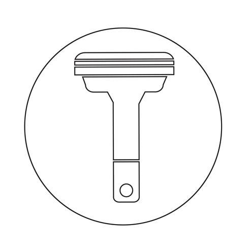 Icono de máquinas de afeitar vector