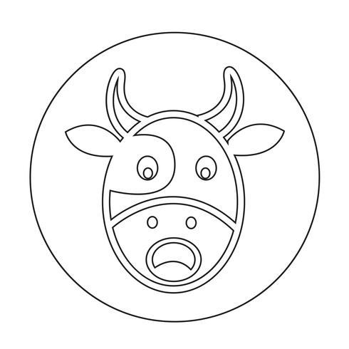 Ícone de vaca vetor