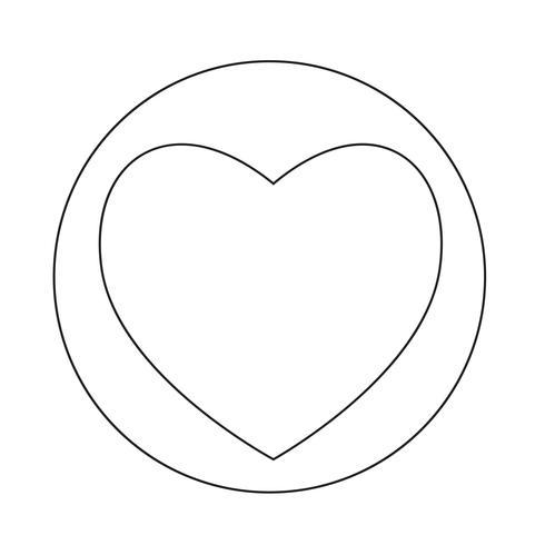 Icône du coeur vecteur