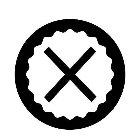 Cancelar icono de cruz vector