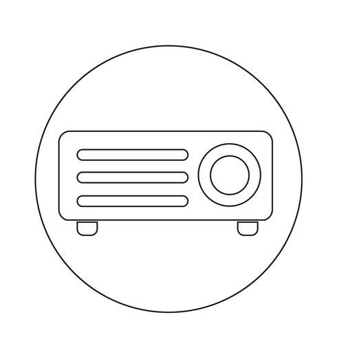 icône de projecteur vidéo