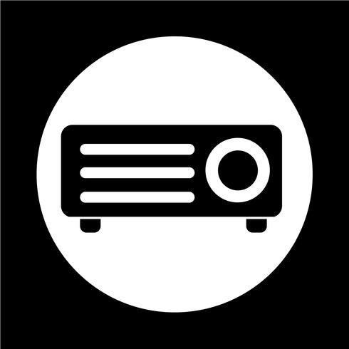 Icono de proyector de video vector