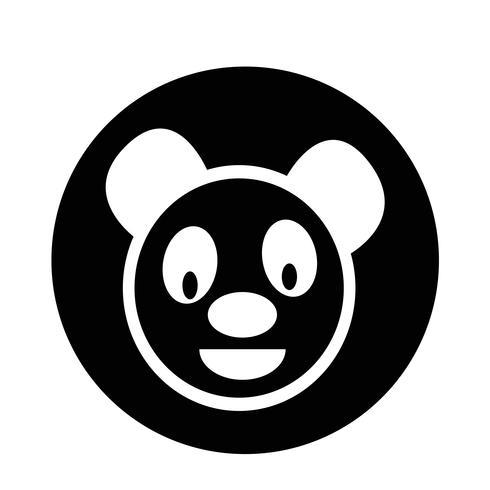 Gullig panda ikon vektor