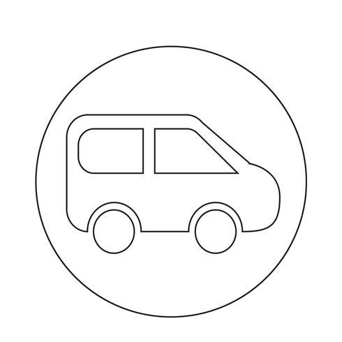 Icône de voiture de SUV vecteur