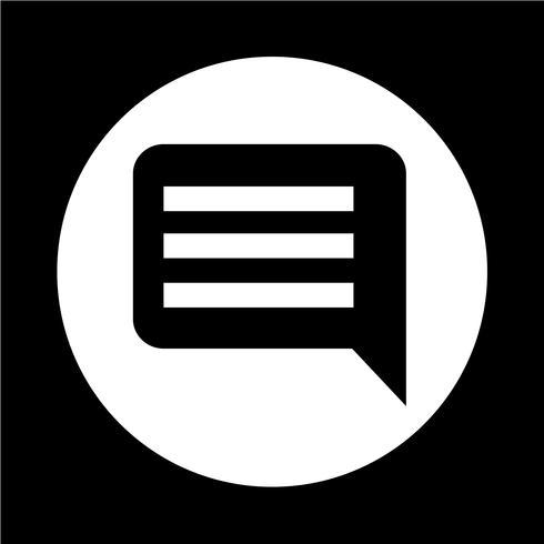 Icono de comentarios vector