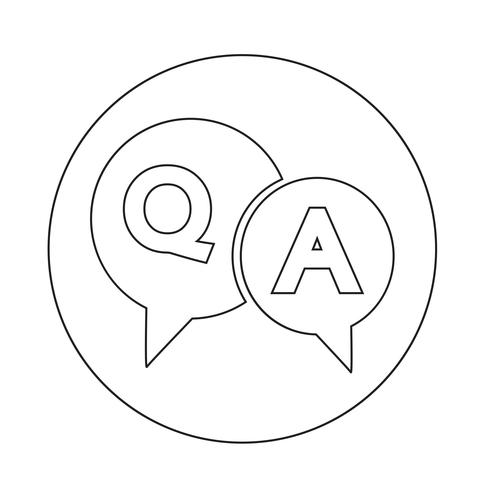 Question and Answer Speech Bubble icon