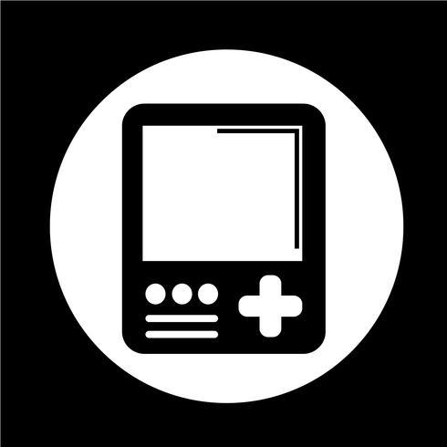 Icona della console di gioco portatile vettore