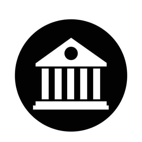 Icono de edificio de biblioteca vector