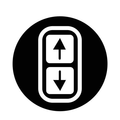 Icono de flecha arriba y abajo vector