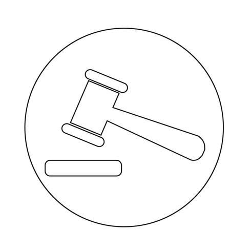 ícone de leilão vetor