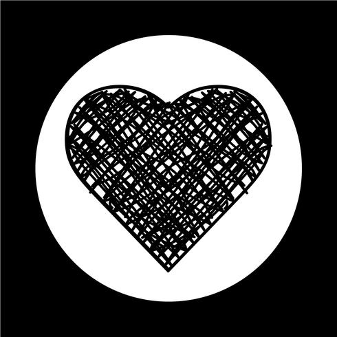 Icône de coeur vecteur