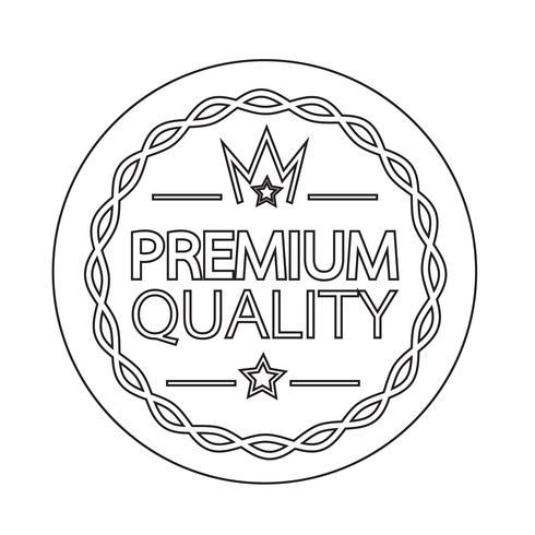 Icono de distintivo de calidad premium vector