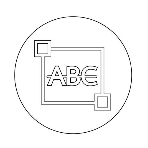 Texte barré Icône d'édition de lettre
