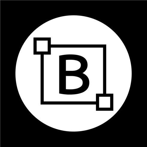 Icono de letra de edición de texto en negrita vector
