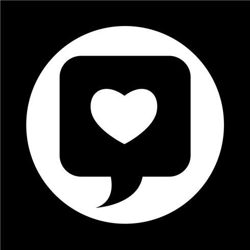 Coração, ícone vetor