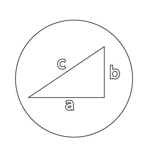 Icône du théorème de Pythagore