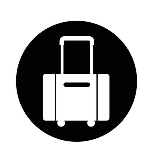 icono de símbolo de equipaje vector