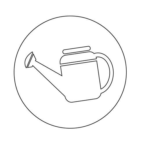 Icono de regadera vector