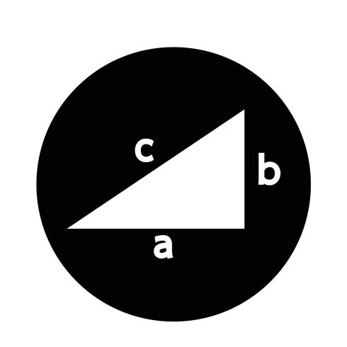 Pythagoras theorem icon