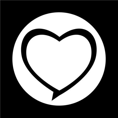 Icono del corazón vector