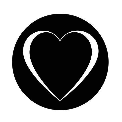 Icono de amor del corazon vector