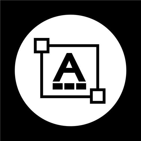 Tekst lettertype wijzigen letterpictogram