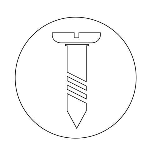 ícone de parafuso vetor