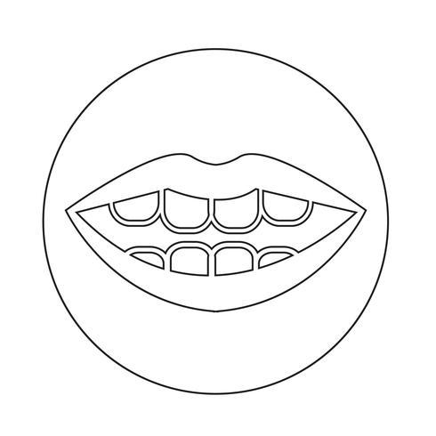 icono de la boca