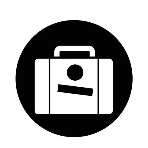 Valise icône vecteur