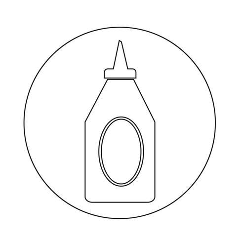 icône de ketchup en bouteille vecteur