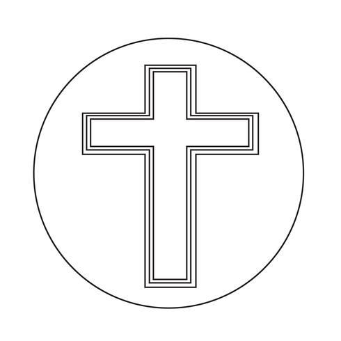Religião Cruz ícone vetor