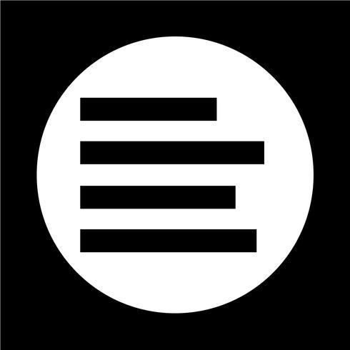 Alinear el icono de texto vector
