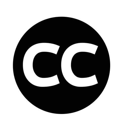 ícono de creativecommons cc vector