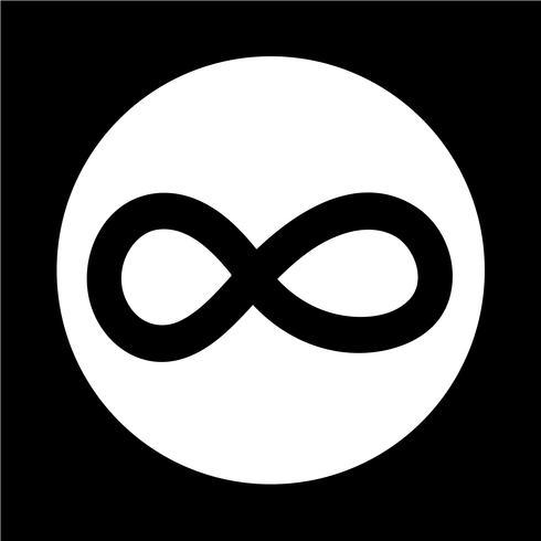 Icono de símbolo ilimitado vector