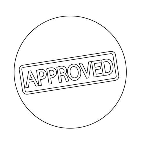 sello de texto aprobado vector