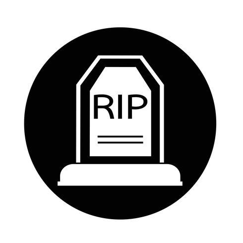 Icono de tumba vector