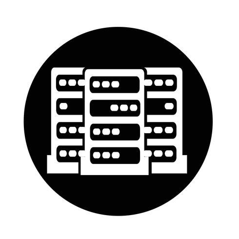 Icono del servidor de computadora vector