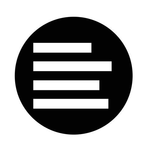 Align Text  icon  vector