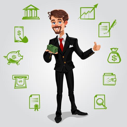 Vector 3d zakenman
