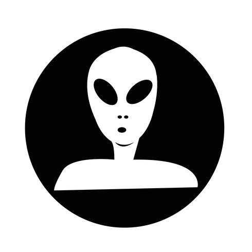 Ícone alienígena vetor