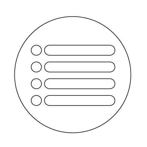 sinal de ícone de lista