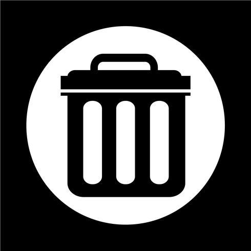 Icono de papelera vector