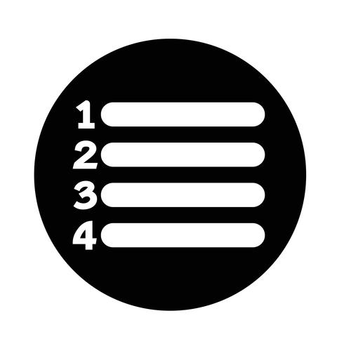 icono de lista de signo vector
