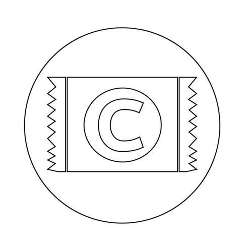 icono de condón vector