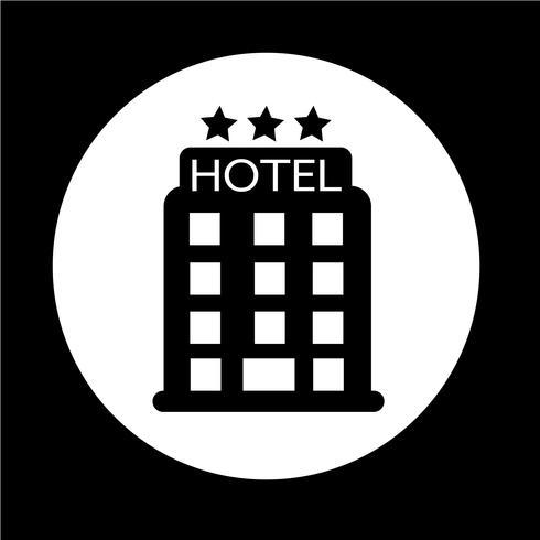 icono de hotel vector