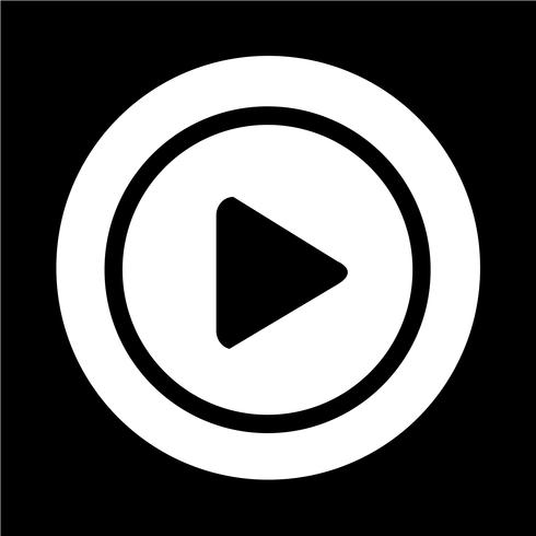 icono de botón de reproducción vector