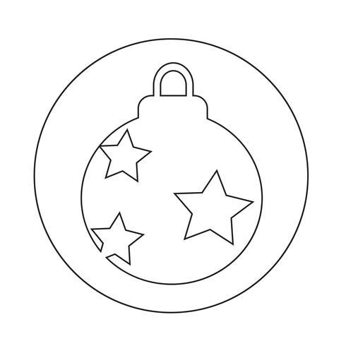 Icona della palla di Natale vettore