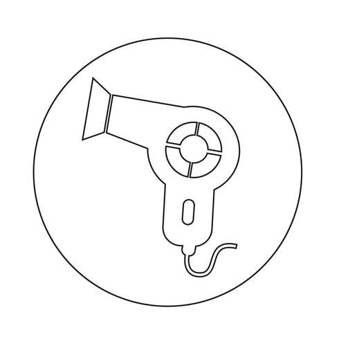 Icono de secador de pelo vector